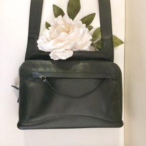 ❤️PRADA❤️Black Crossbody Messenger Leather Purse